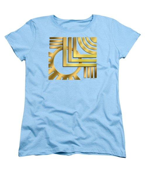 Women's T-Shirt (Standard Cut) featuring the digital art Art Deco 19 Transparent by Chuck Staley