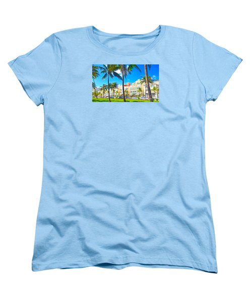 Women's T-Shirt (Standard Cut) featuring the painting Art Deco Style by Judy Kay