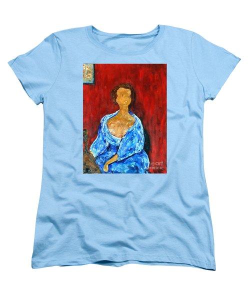 Women's T-Shirt (Standard Cut) featuring the painting Art Study by Reina Resto
