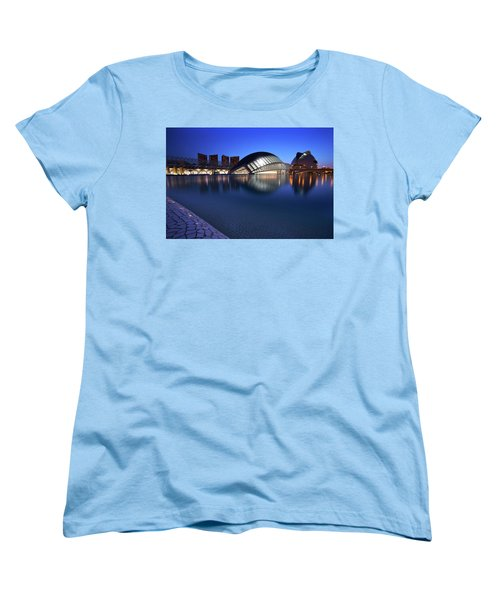 Arts And Science Museum Valencia Women's T-Shirt (Standard Cut) by Graham Hawcroft pixsellpix