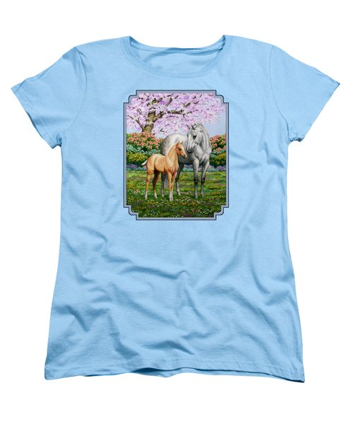 Spring's Gift - Mare And Foal Women's T-Shirt (Standard Fit)