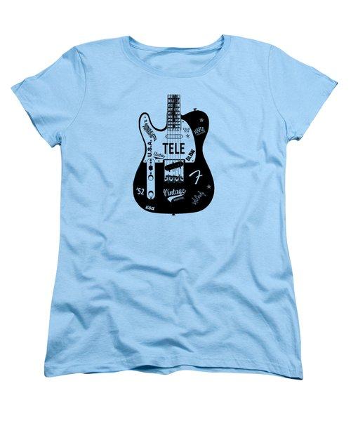 Fender Telecaster 52 Women's T-Shirt (Standard Cut) by Mark Rogan