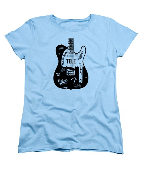 Fender Telecaster 58 Women's T-Shirt (Standard Cut) by Mark Rogan