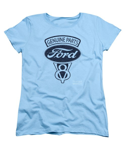 Ford V8 Women's T-Shirt (Standard Cut) by Mark Rogan