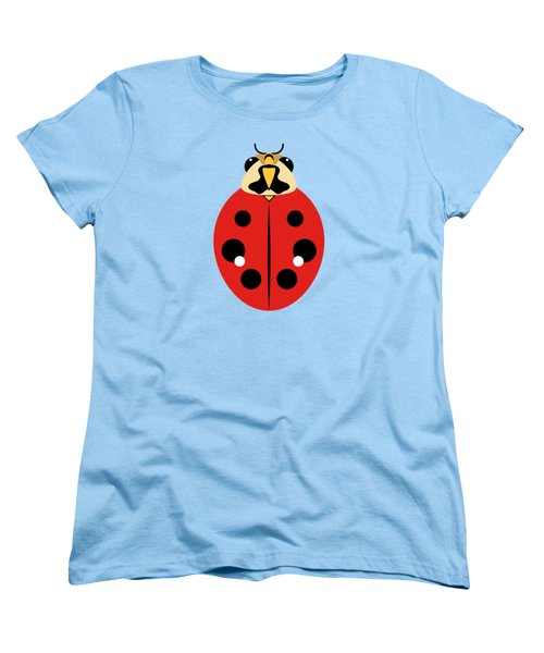 Women's T-Shirt (Standard Cut) featuring the digital art Ladybug Graphic Red by MM Anderson