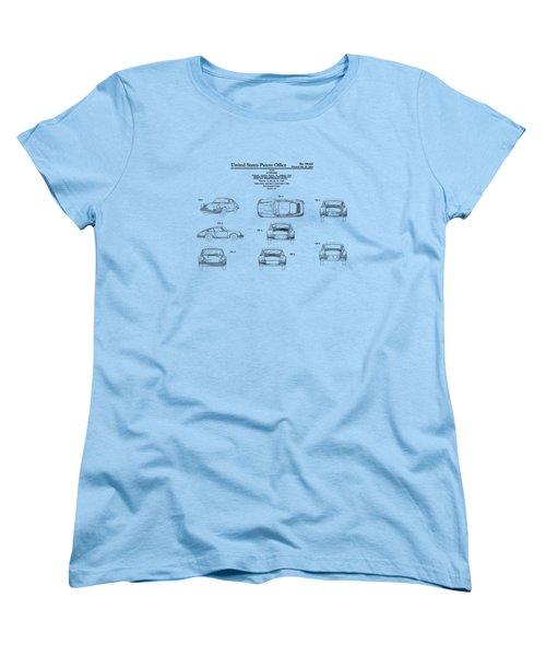 Porsche 911 Patent Women's T-Shirt (Standard Cut) by Mark Rogan
