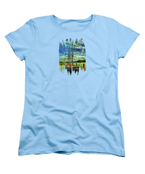 Women's T-Shirt (Standard Cut) featuring the photograph Cape Foulweather Tall Ship by Thom Zehrfeld