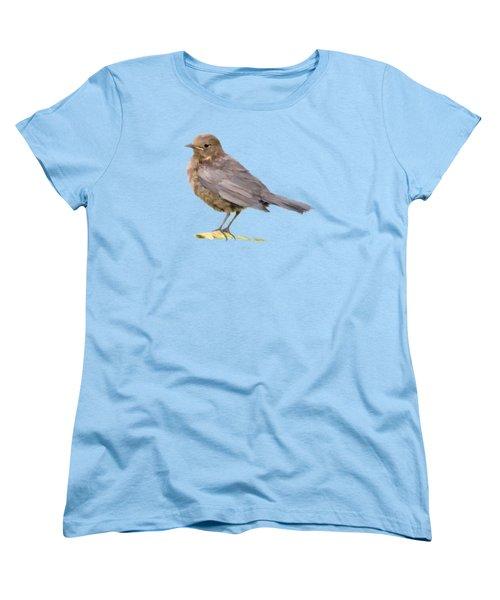 Young Blackbird  Women's T-Shirt (Standard Cut)