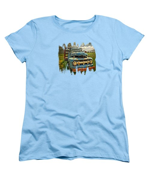 The Blue Classic 48 To 52 Ford Truck Women's T-Shirt (Standard Cut) by Thom Zehrfeld