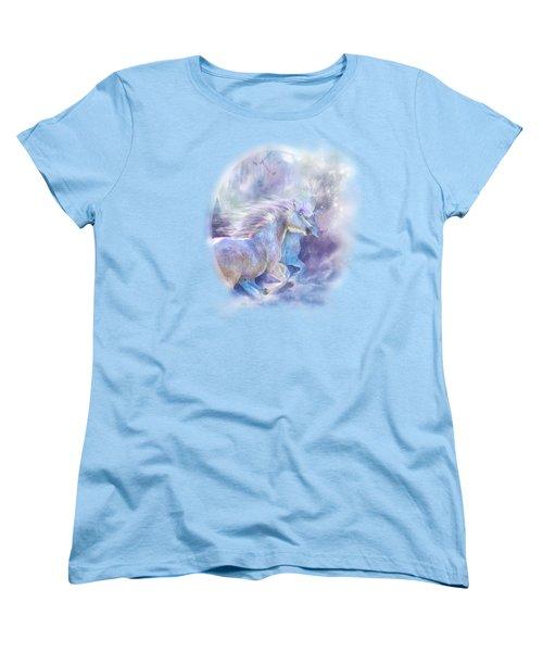Women's T-Shirt (Standard Cut) featuring the mixed media Unicorn Soulmates by Carol Cavalaris
