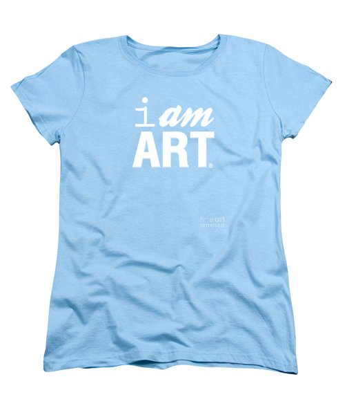 Women's T-Shirt (Standard Cut) featuring the digital art I Am Art- Shirt by Linda Woods