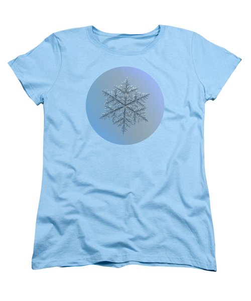 Snowflake Photo - Majestic Crystal Women's T-Shirt (Standard Cut) by Alexey Kljatov