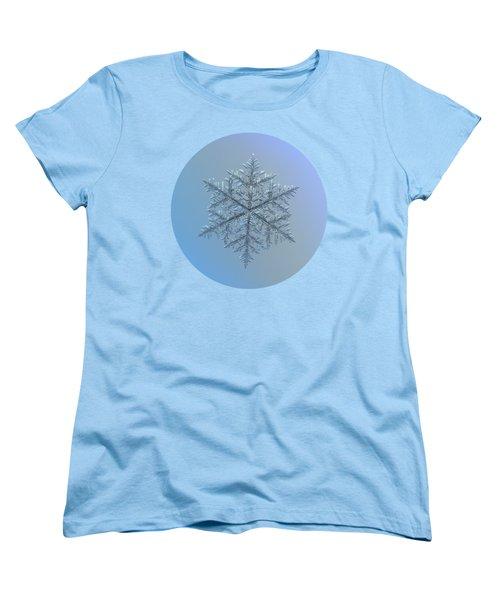 Snowflake Photo - Majestic Crystal Women's T-Shirt (Standard Cut)