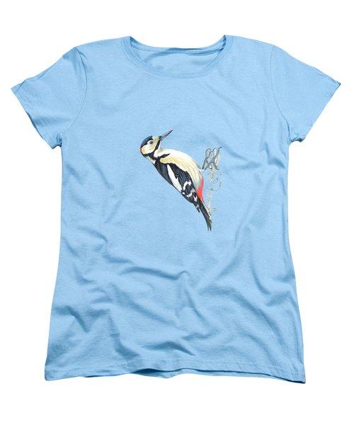 Great Spotted Woodpecker Women's T-Shirt (Standard Cut) by Roy Pedersen