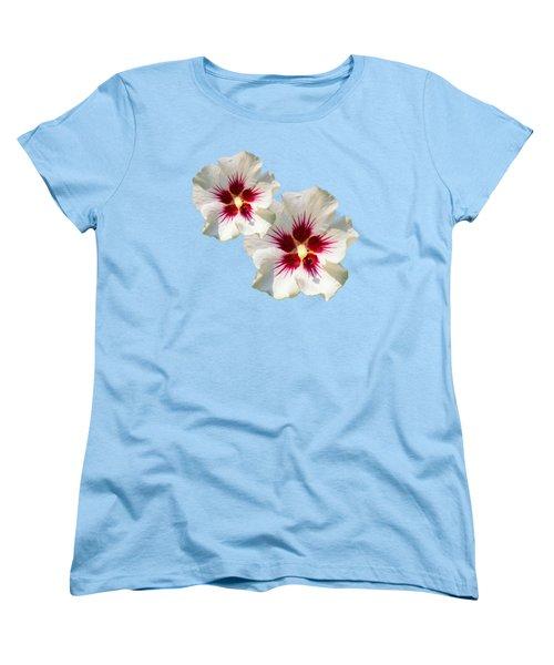 Hibiscus Flower Pattern Women's T-Shirt (Standard Fit)
