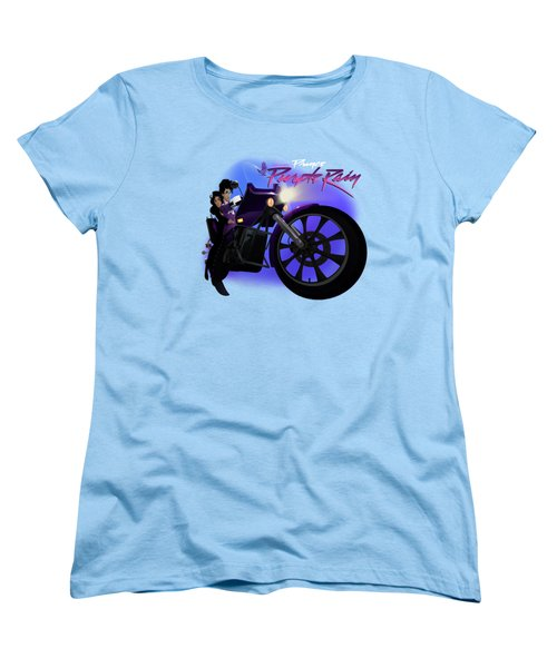 Women's T-Shirt (Standard Cut) featuring the digital art I Grew Up With Purplerain 2 by Nelson dedos Garcia