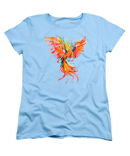 Phoenix Women's T-Shirt (Standard Cut) by Adriano Diana