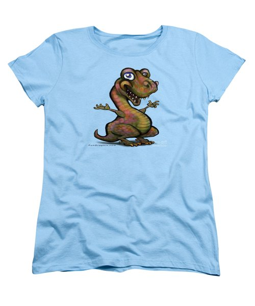 Baby T-rex Blue Women's T-Shirt (Standard Cut) by Kevin Middleton