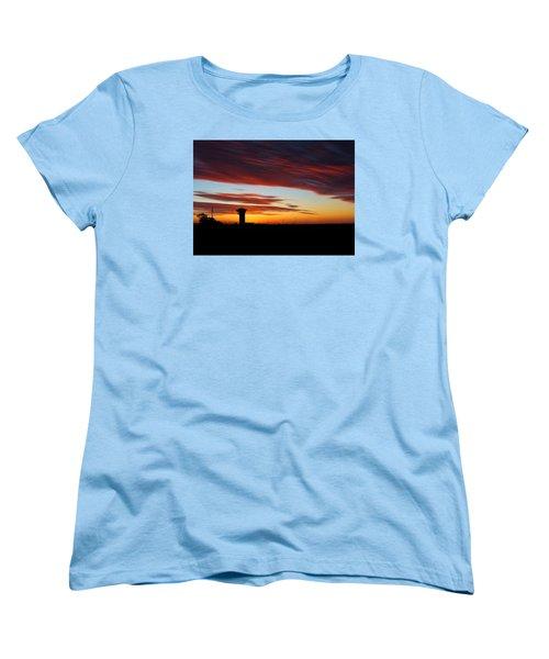 Sunrise Over Golden Spike Tower Women's T-Shirt (Standard Cut) by Bill Kesler