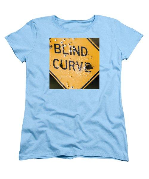 Blind Curve Women's T-Shirt (Standard Cut) by Bill Kesler