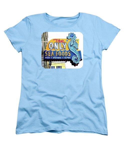 Cafe Sign Women's T-Shirt (Standard Cut) by Ethna Gillespie