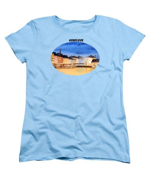 Women's T-Shirt (Standard Cut) featuring the painting Honfleur  Evening Lights by Bill Holkham