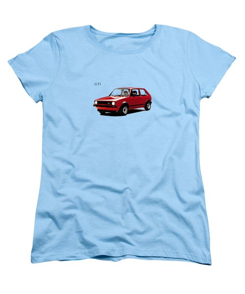 Vw Golf Gti 1976 Women's T-Shirt (Standard Cut) by Mark Rogan