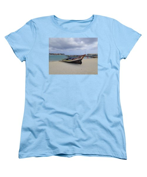 Women's T-Shirt (Standard Cut) featuring the photograph Aruba Beach by Lois Lepisto