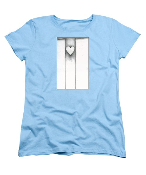 Women's T-Shirt (Standard Cut) featuring the drawing Ascending Heart by James Lanigan Thompson MFA