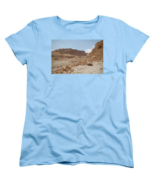 Women's T-Shirt (Standard Cut) featuring the photograph Ascension To Masada - Judean Desert, Israel by Yoel Koskas