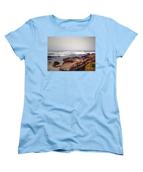 Asilomar Beach Pacific Grove Ca Usa Women's T-Shirt (Standard Cut) by Joyce Dickens