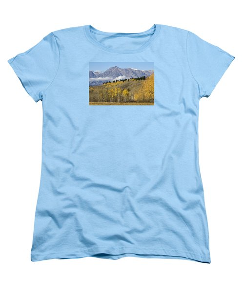 Women's T-Shirt (Standard Cut) featuring the photograph Aspen Colours by Shirley Mitchell