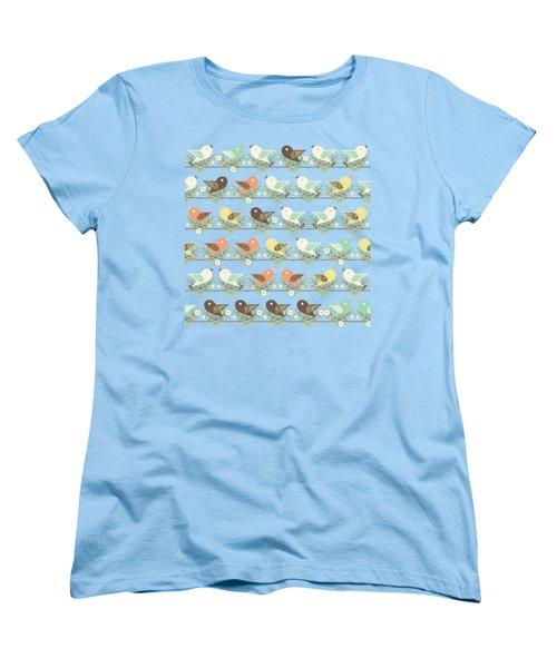 Assorted Birds Pattern Women's T-Shirt (Standard Fit)