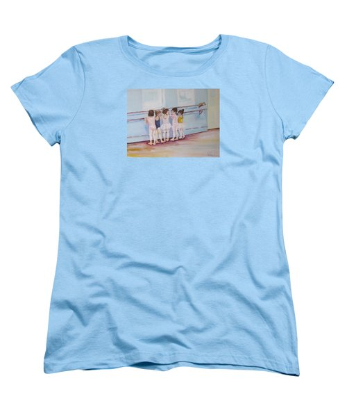 At The Barre Women's T-Shirt (Standard Cut) by Julie Todd-Cundiff