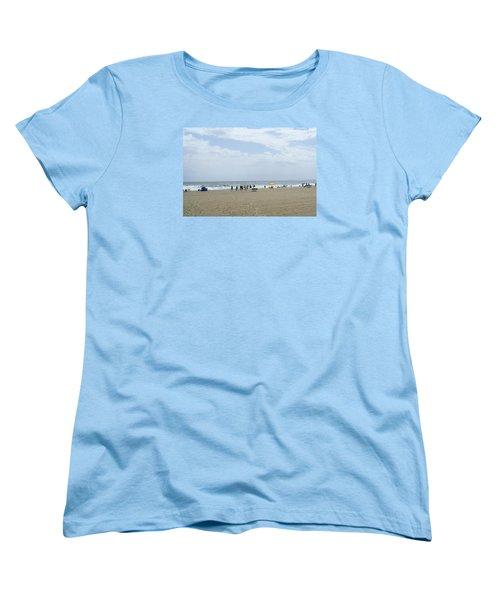 Women's T-Shirt (Standard Cut) featuring the photograph At The Beach by Heidi Poulin
