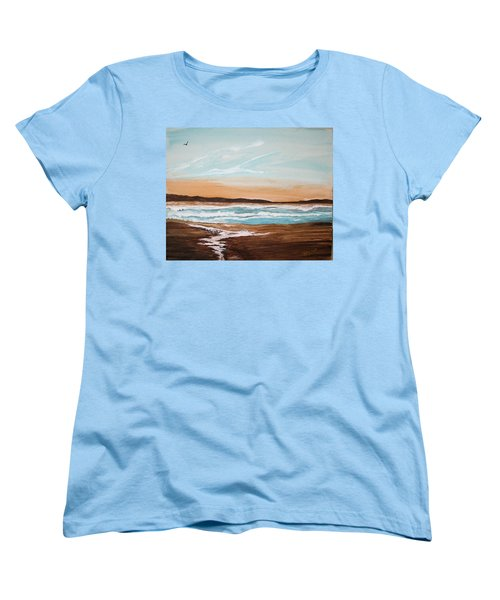 At The Beach Women's T-Shirt (Standard Cut) by Maris Sherwood