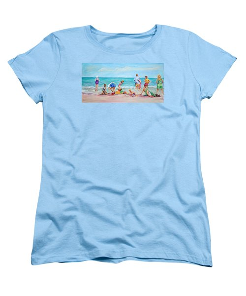 At The Beach Women's T-Shirt (Standard Cut) by Patricia Piffath