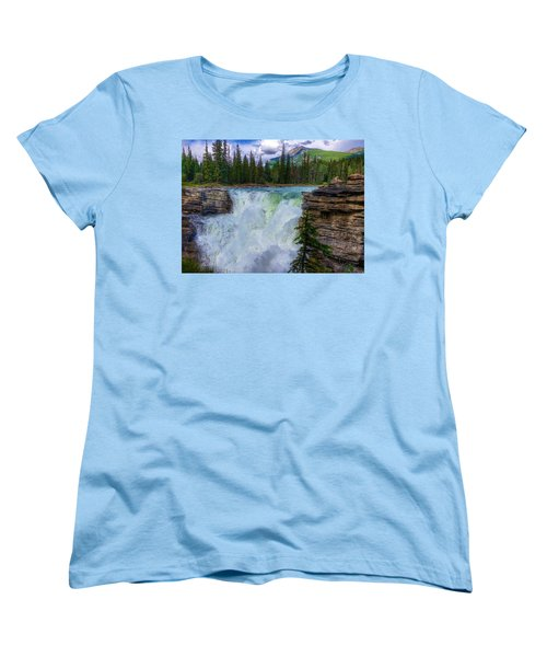 Athabasca Falls, Ab  Women's T-Shirt (Standard Cut) by Heather Vopni