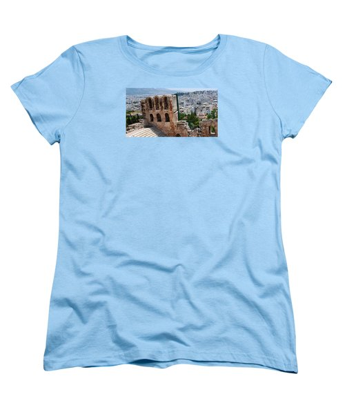 Women's T-Shirt (Standard Cut) featuring the photograph Athens From Acropolis II by Robert Moss