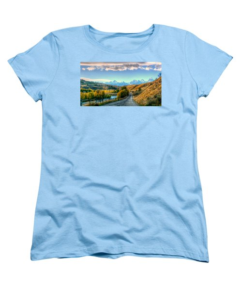 Atherton View Of Tetons Women's T-Shirt (Standard Cut) by Charlotte Schafer