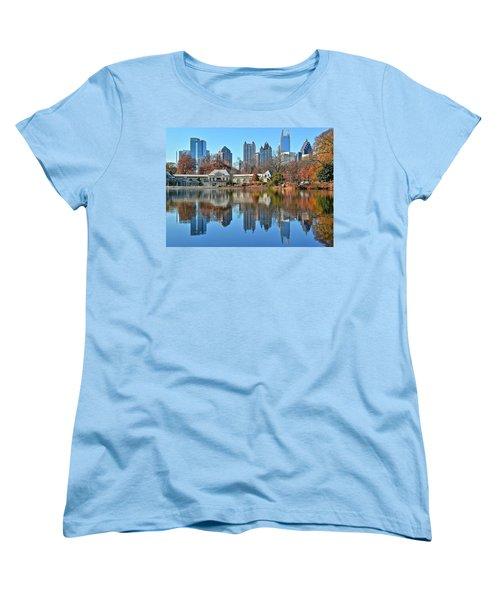 Atlanta Reflected Women's T-Shirt (Standard Cut) by Frozen in Time Fine Art Photography