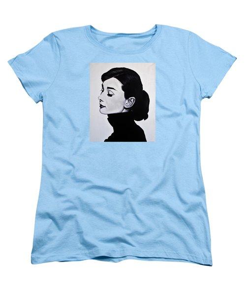 Audrey Hepburn 1 Women's T-Shirt (Standard Cut) by Brian Broadway