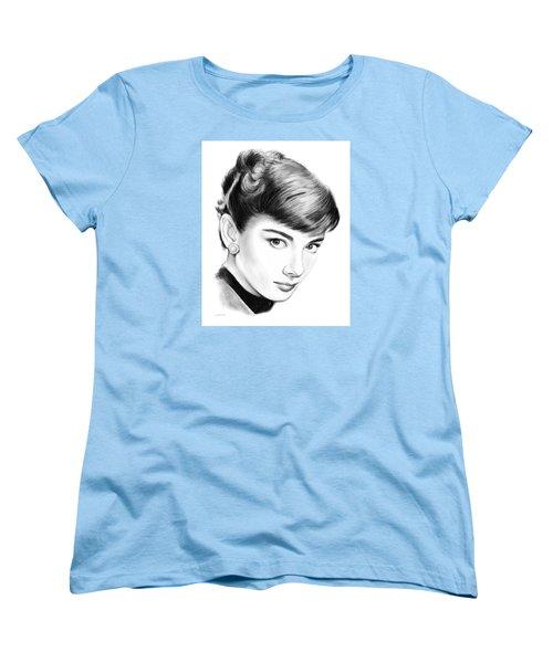 Audrey Hepburn Women's T-Shirt (Standard Cut) by Greg Joens