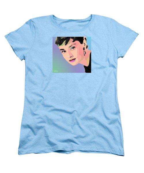 Women's T-Shirt (Standard Cut) featuring the digital art Audrey by John Keaton