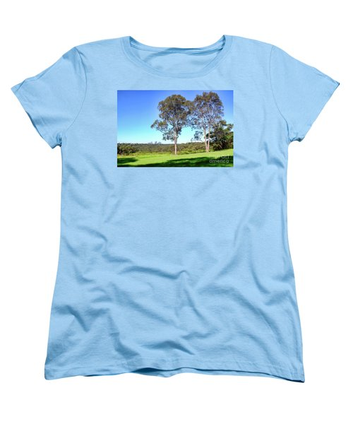Women's T-Shirt (Standard Cut) featuring the photograph Aussie Gum Tree Landscape By Kaye Menner by Kaye Menner