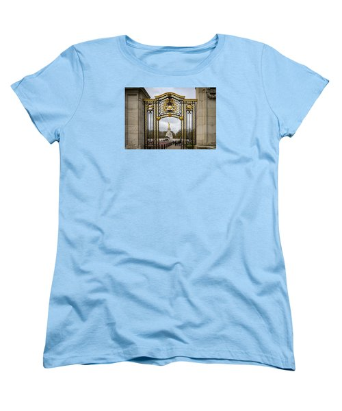 Women's T-Shirt (Standard Cut) featuring the photograph Australia Gate Towards Queen Victoria's Statue by Shirley Mitchell