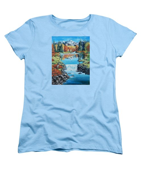 Autum Stag Women's T-Shirt (Standard Cut) by Ruanna Sion Shadd a'Dann'l Yoder