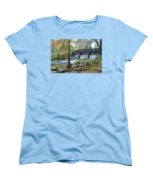 Women's T-Shirt (Standard Cut) featuring the photograph Autumn At Maramec Spring by Cricket Hackmann