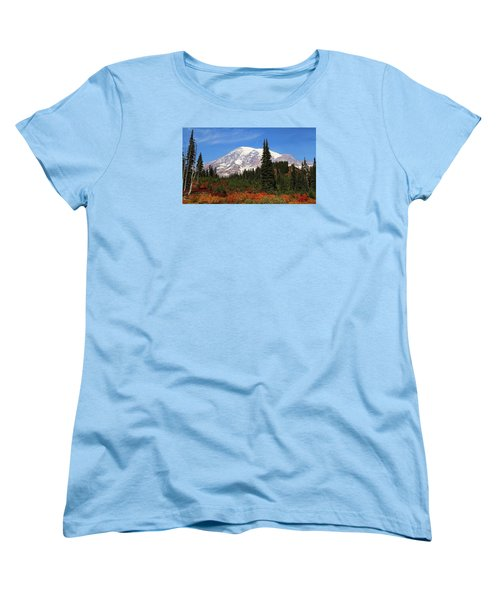 Women's T-Shirt (Standard Cut) featuring the photograph Autumn At Paradise by Lynn Hopwood
