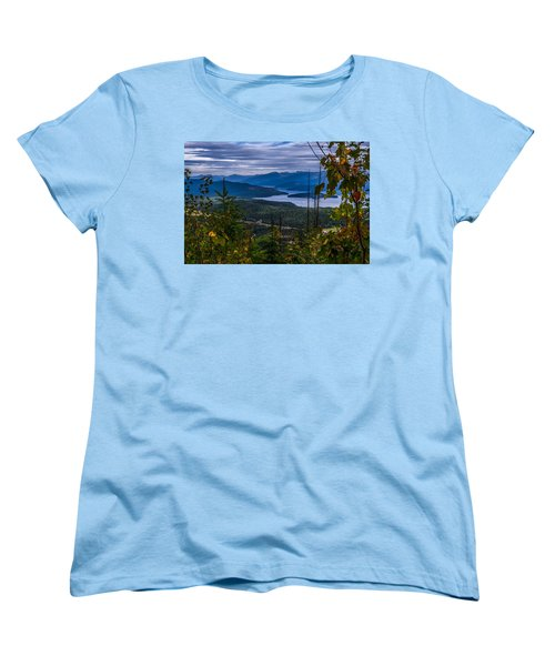 Autumn At Priest Lake Women's T-Shirt (Standard Cut) by Yeates Photography